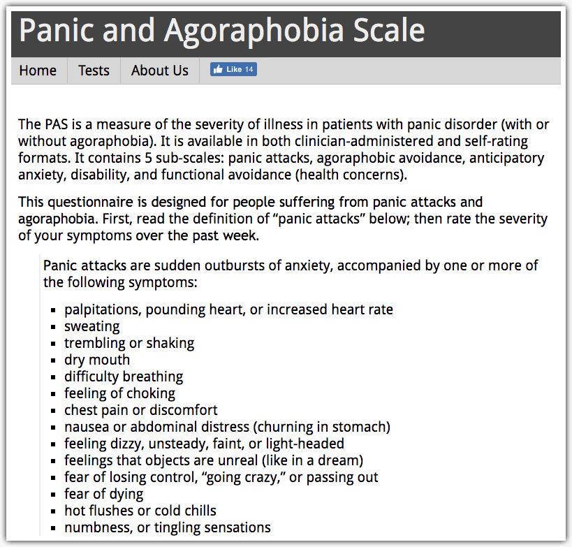 agoraphobia psychology