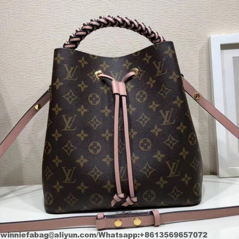Louis Vuitton Braided Handle Monogram Canvas Neonoe Bucket Bag F W2018