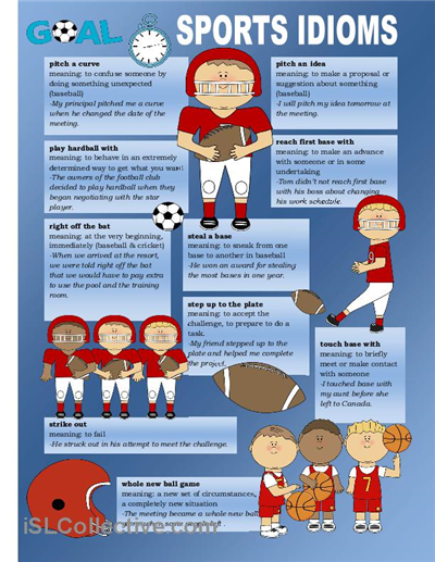 More sport idioms on this poster.