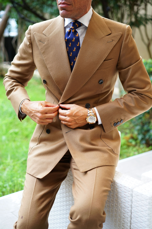 German Shepherd Dog Tie Best Suits For Men Italian Style Suit