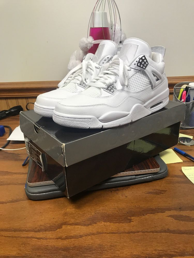 0ab36739b84bad Air Jordan 4 Pure Money OG Release 2006 Size 12 Thunder Bred White Cement  Grape (eBay Link)