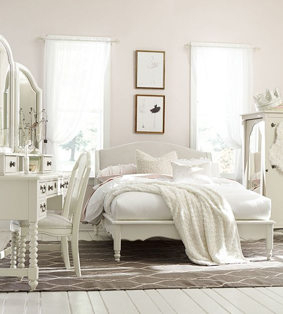 54 Amazing All-White Bedroom Ideas | White bedroom set, Bedroom ...
