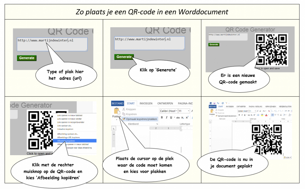 QR-code in worddocument
