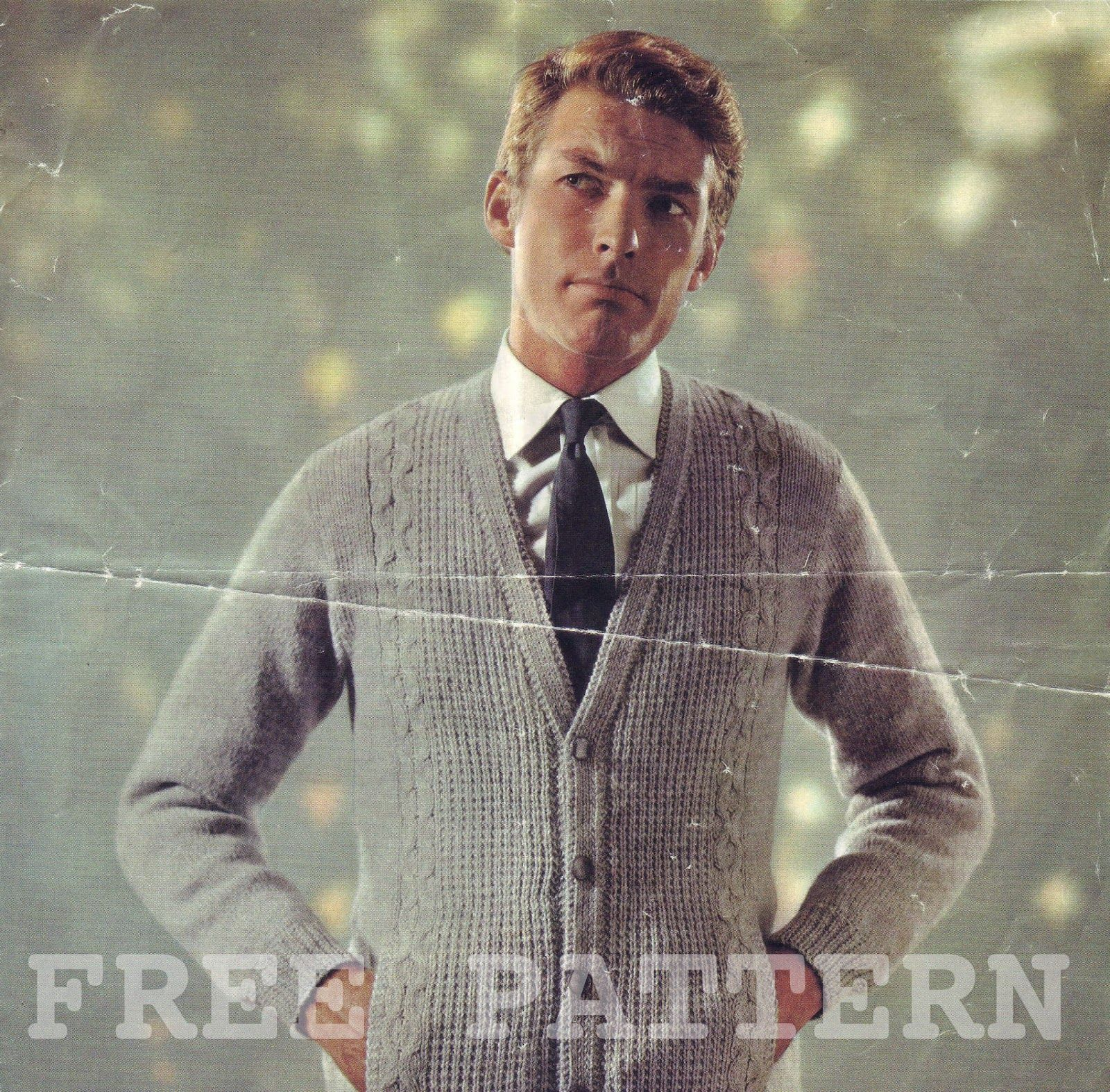 8fa772e49f5ede The Vintage Pattern Files  Free 1950 s Knitting Pattern - Mens Double Knit  Cardigan