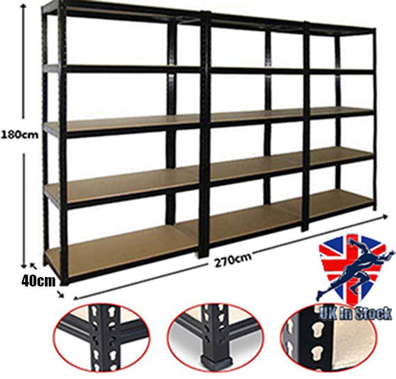 heavy duty storage shelves. 3 Rack Bay Garage Shelving Unit Heavy Duty 5 Tier Shelf Steel Storage Shelves