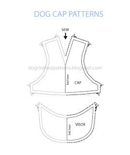 58bfae56c50d free dog cap patterns | Dog pattern | Dog clothes patterns, Dog coat ...