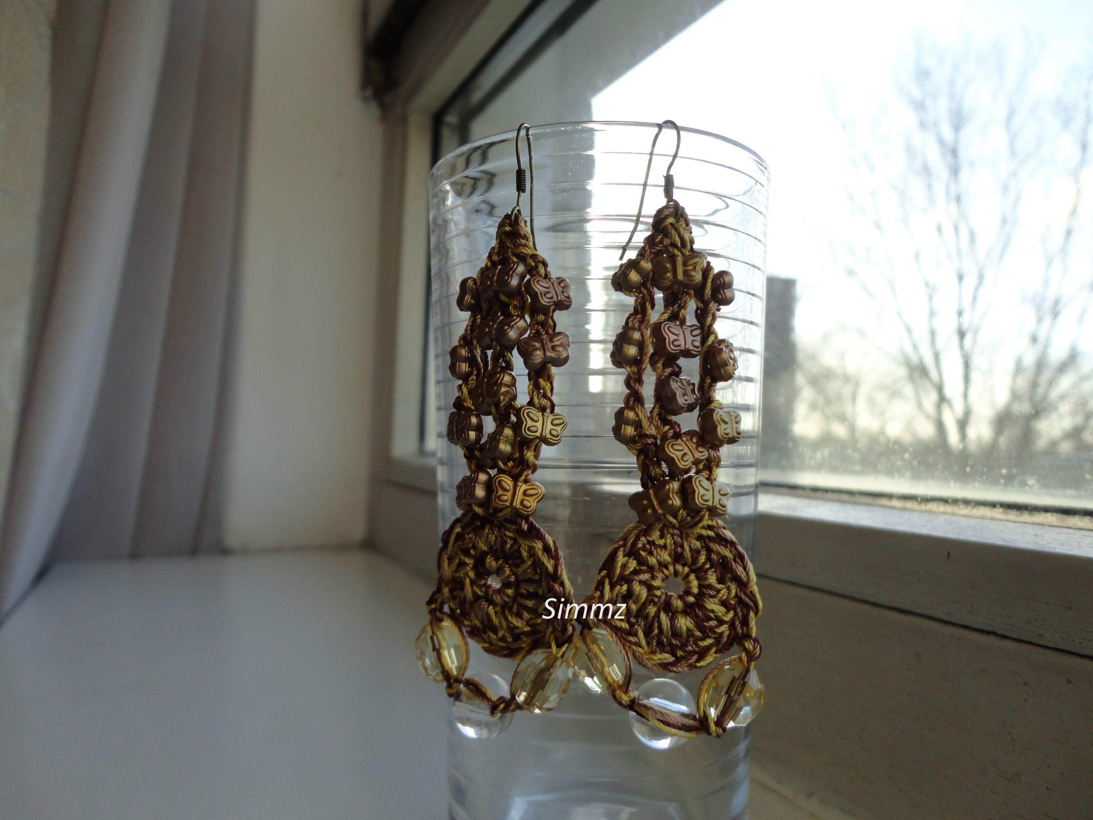 EarRings With Golden Butterfly