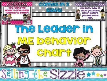 The Leader in Me 7 Habits Behavior Chart | School | Pinterest ...