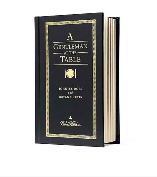 A Gentlemen at the Table Book
