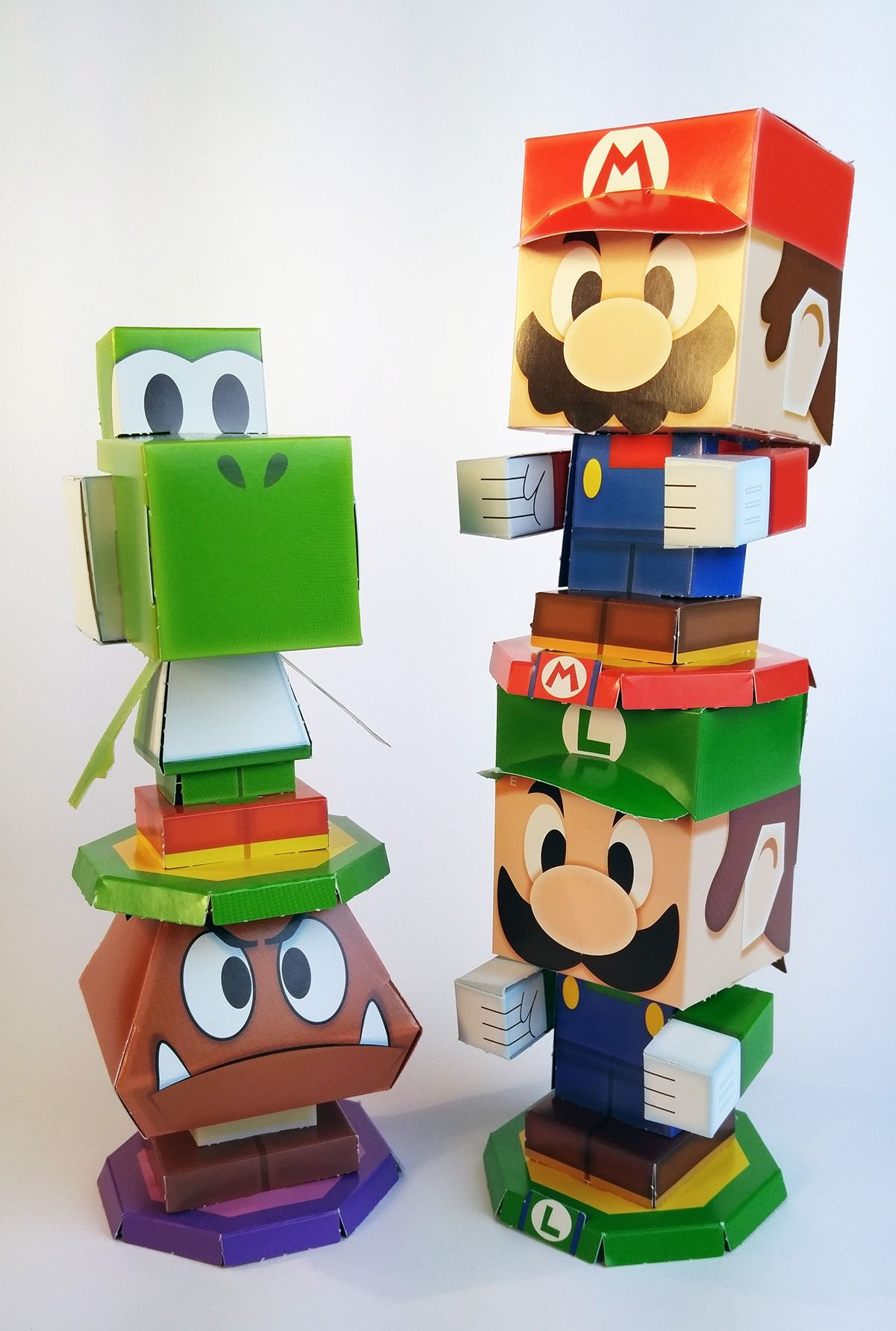 Mario Luigi Paper Jam Papercraft Premium On Behance In 2020