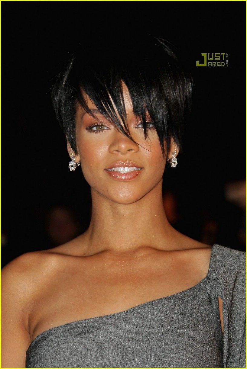 Rihanna super short hair cabelo hair pinterest black hair