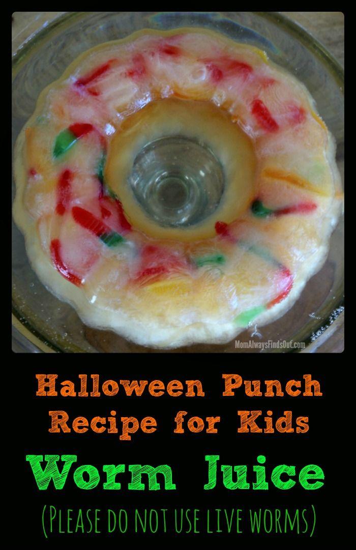 halloween drinks recipe for kids worm juice halloween