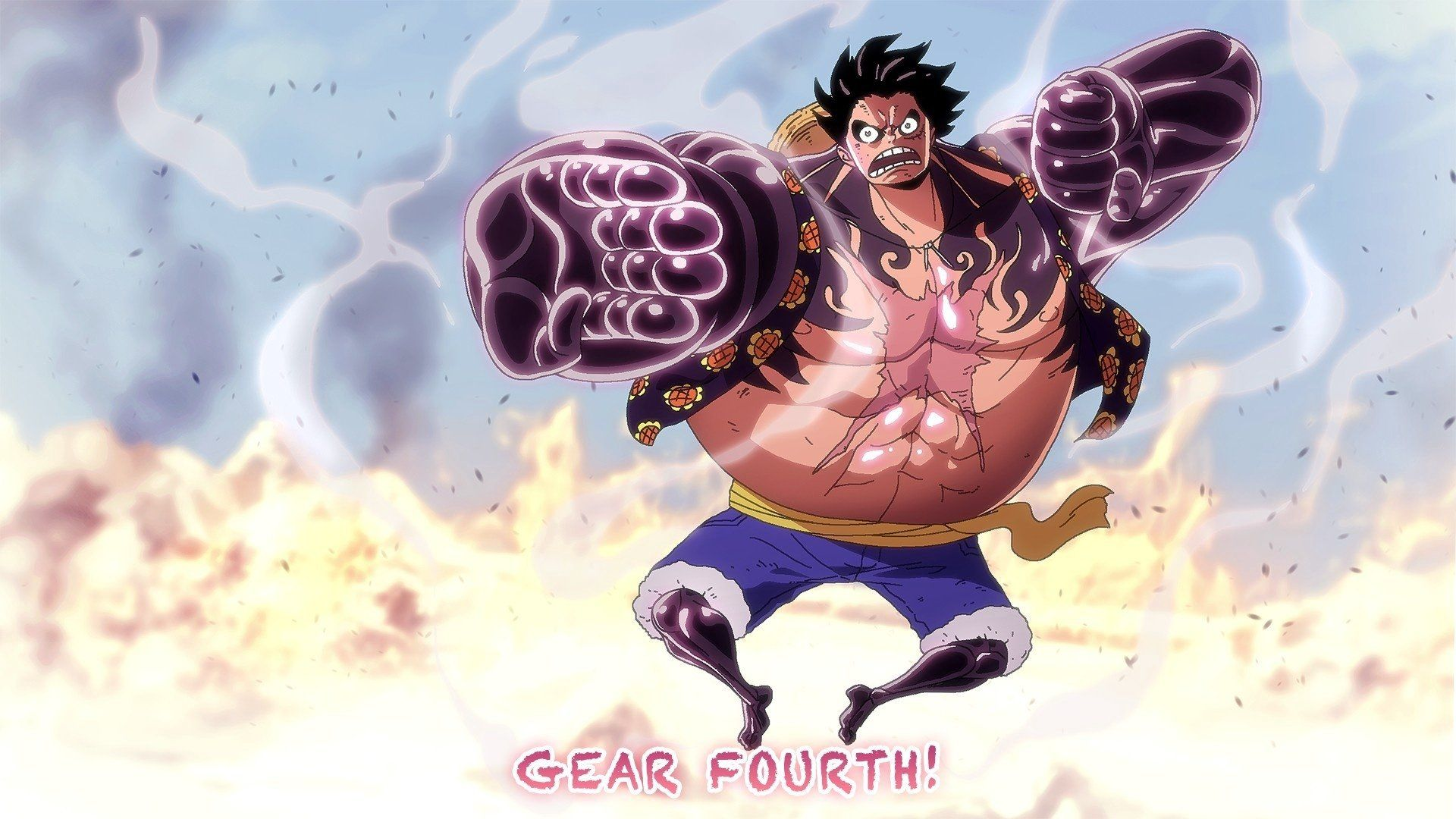 Anime One Piece Monkey D Luffy Haki One Piece Gear Fourth