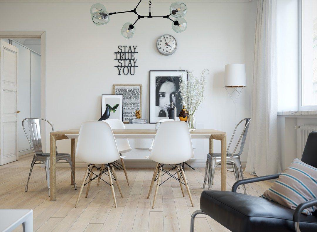 open concept interior abierto estilo nórdico distribución diáfana ...