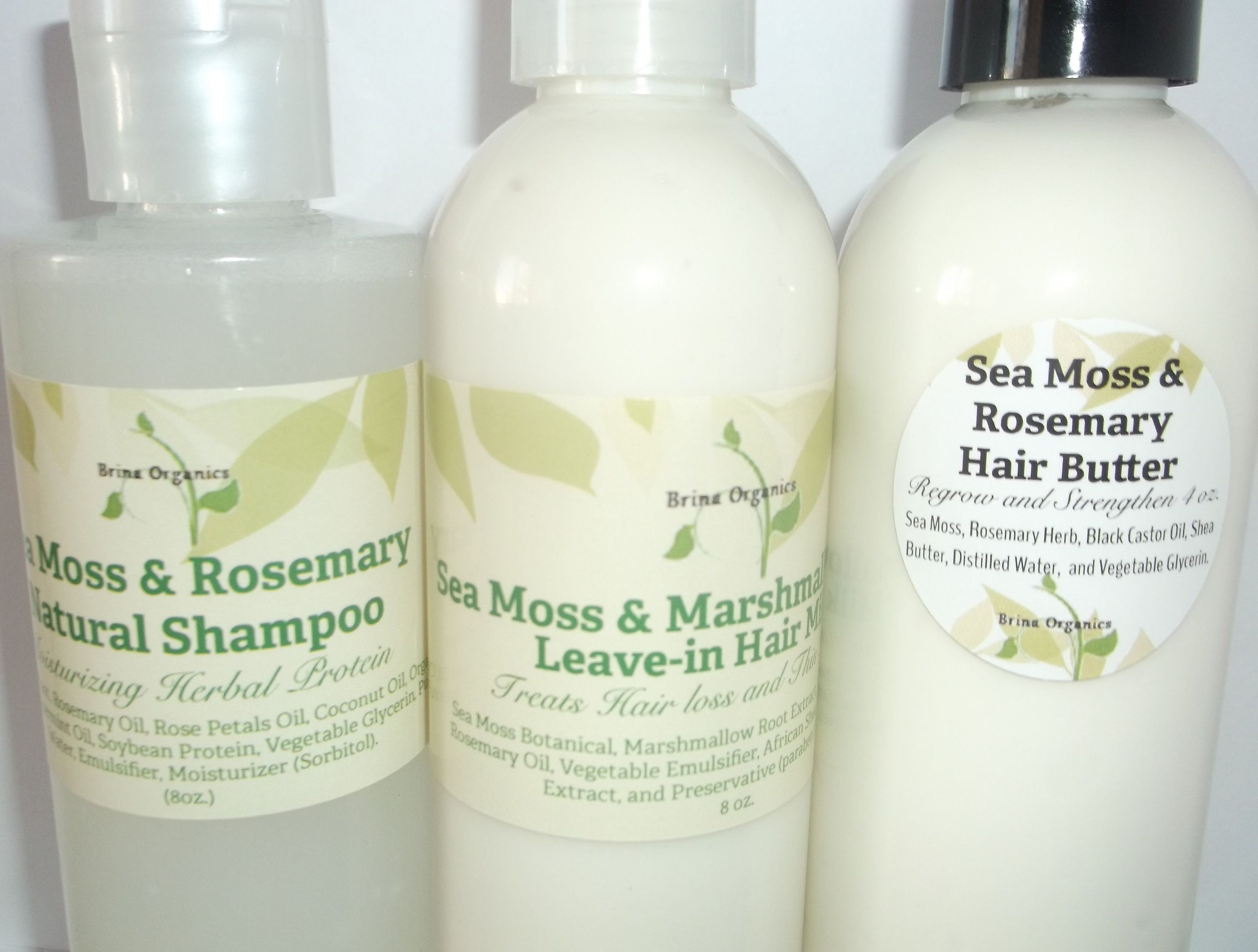 Sea Moss Hair Care Line Bundle 3 Step Natural Hair System Etsy Organic Hair Hair Cream Sea Moss