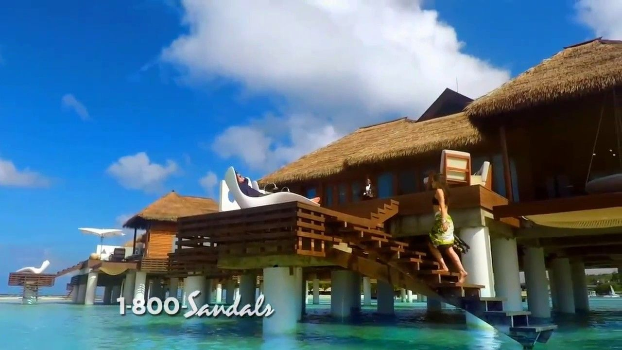 47dbc69bd76ef Sandals Resorts The New Over the Water Villa Suites Commercial