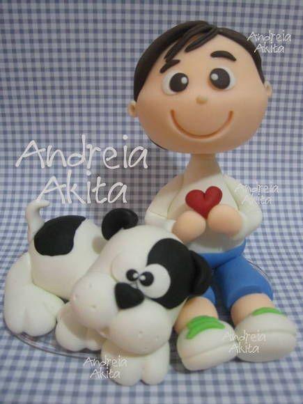 *SORRY, no information as to product used ~ Menino (a) + dog | Andreia  Akita | 2D822C - Elo7