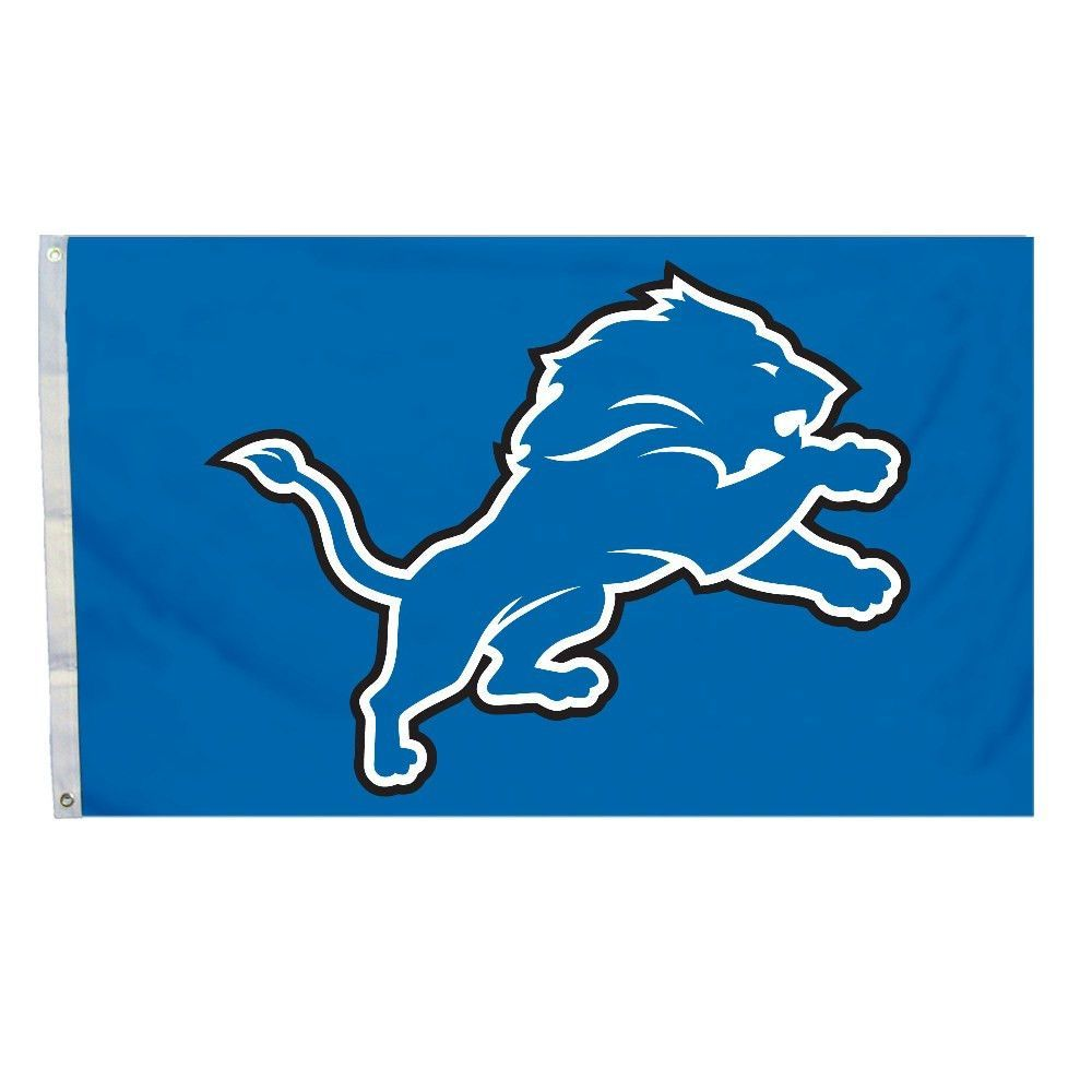 Logo Flag - 3Ft x 5Ft - Detroit Lions