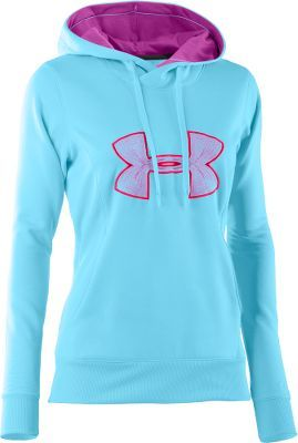 Under Armour® Women's Big Logo Hoodie - this color would be perfect with my blue and purple pumas!