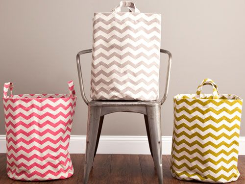 Dorm Room Laundry Bags - Chic Hampers - House Beautiful