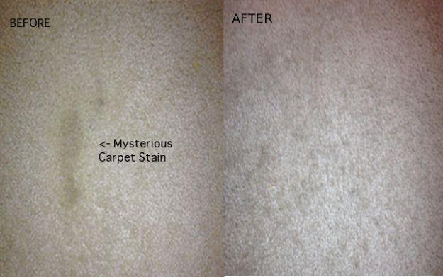 Steam clean mystery stains out of your carpets using an iron. | Ways To Seriously Deep Clean Your Home