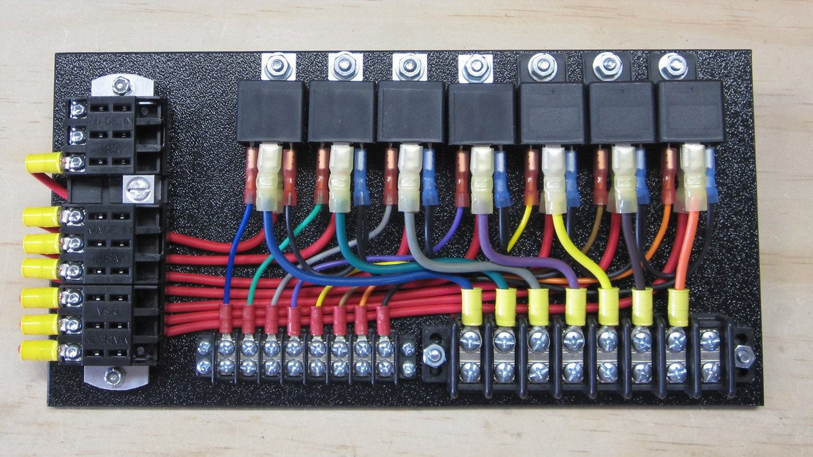 7 Relay Panel With Push Ons Car Paint Repair Relay Fuse Panel