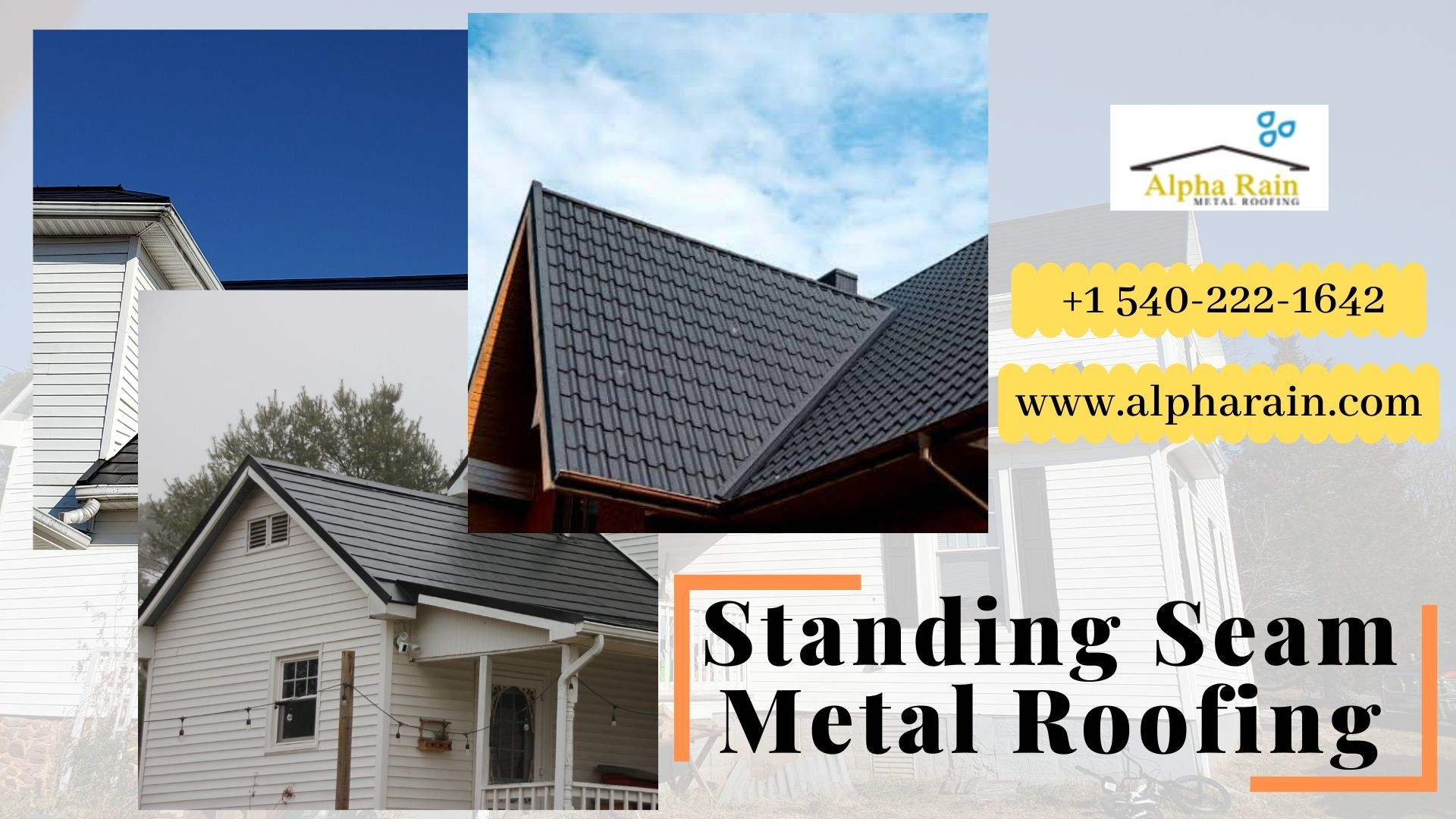 Alpha Rain Set Up The Double Lock Panels That Are Running From Roof Ridge Down To The Edges In 2020 Standing Seam Metal Roof Metal Roof Installation Roof Installation