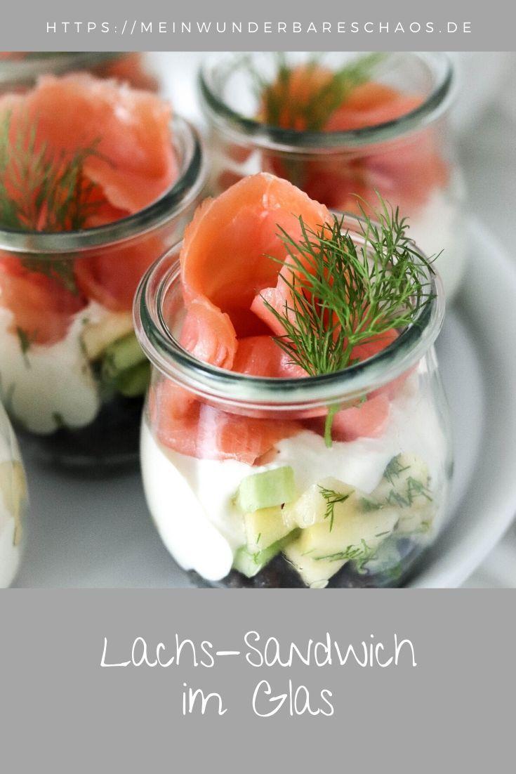 Lachs-Sandwich im Glas | Mein wunderbares Chaos #frühstückundbrunch