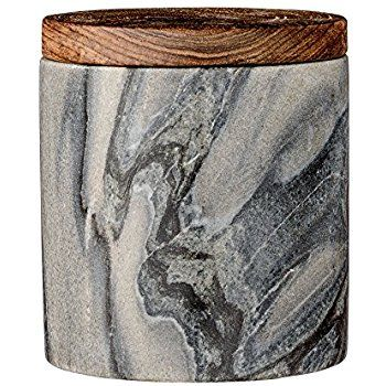 Amazon.com: Bloomingville Marble Jar with Mango Wood Lid, Gray: Kitchen & Dining. This is an affiliate link.