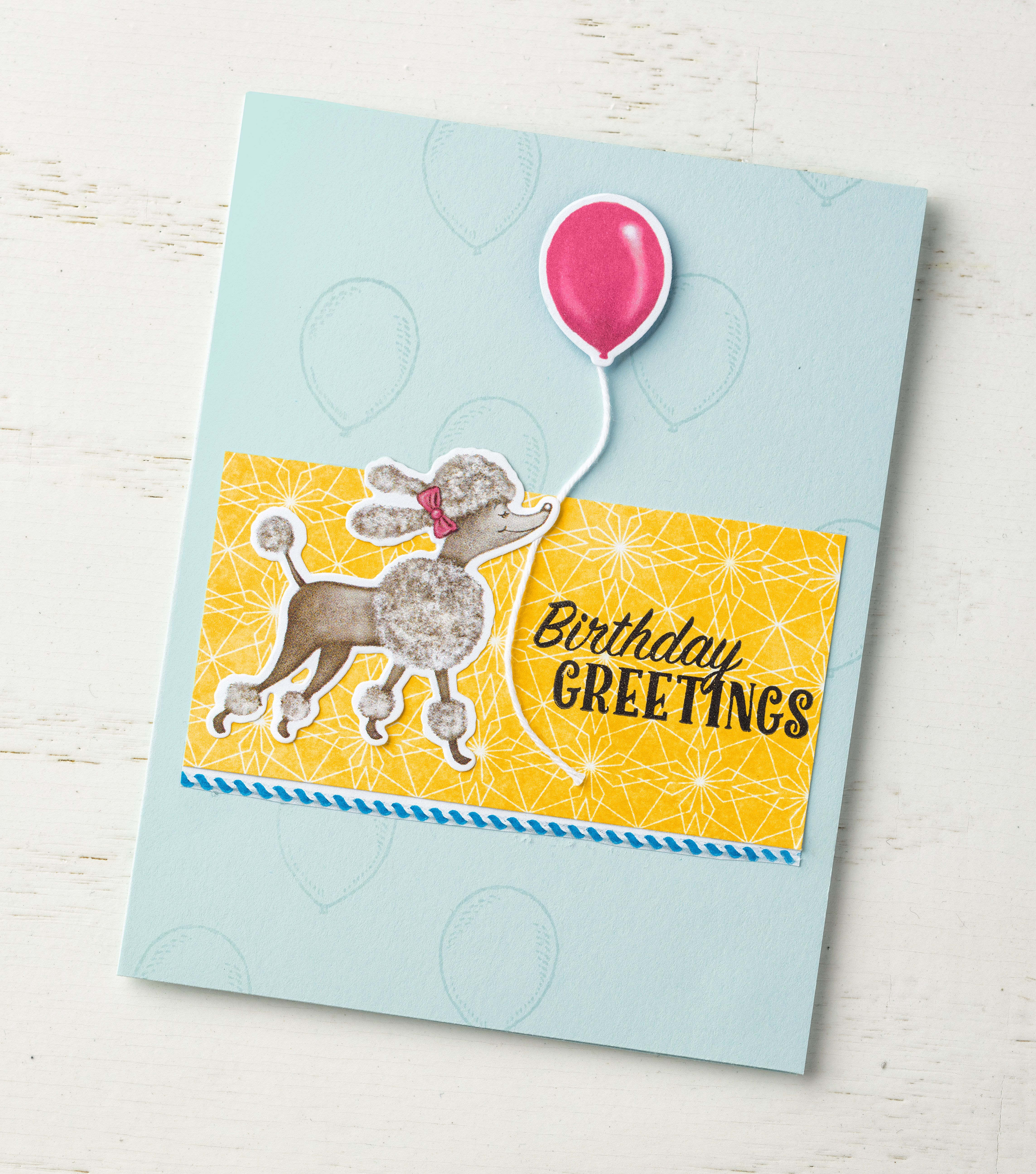 The adorable critters in the Birthday Memories designer series paper are wonderful for making handmade projects for the young, and young at heart. #stampinup #annualcatalog2017