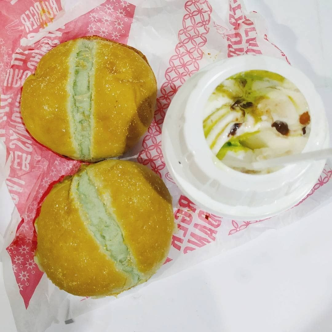 Burger Rendang Burger Sambal Ijo Mcflurry Pandan Kacang Merah Mcflurry Pandan Red Bean Soda Semangka Watermelon Soda Mcdonaldsid Foodie Food Burger