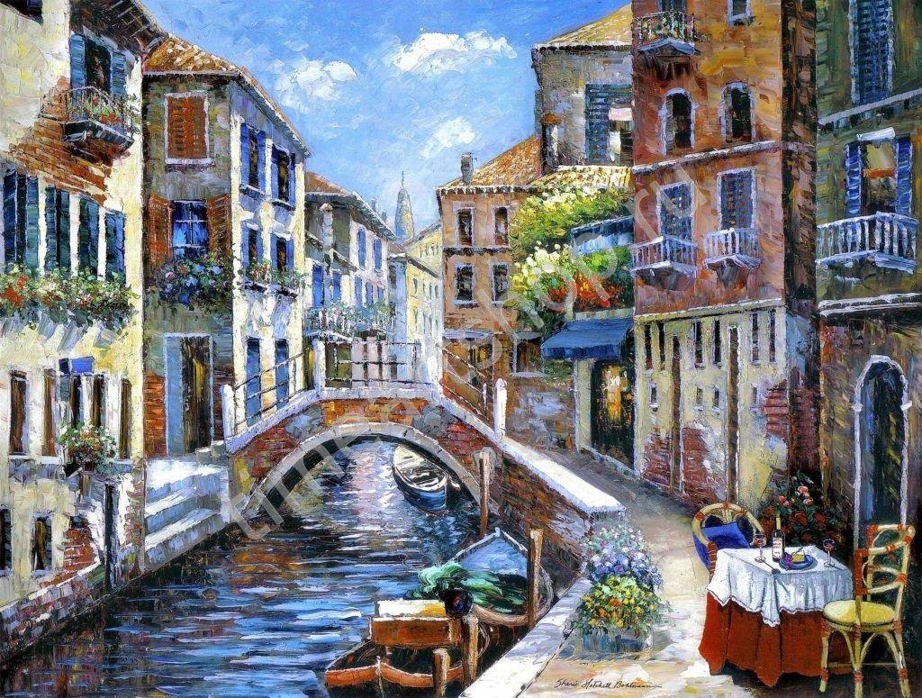 Кафе у канала. Венеция, картина раскраска по номерам ...