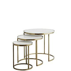 Set 3 Tables A Cafe Marbre Laiton Madam Stoltz Table Cafe Table Marbre Table
