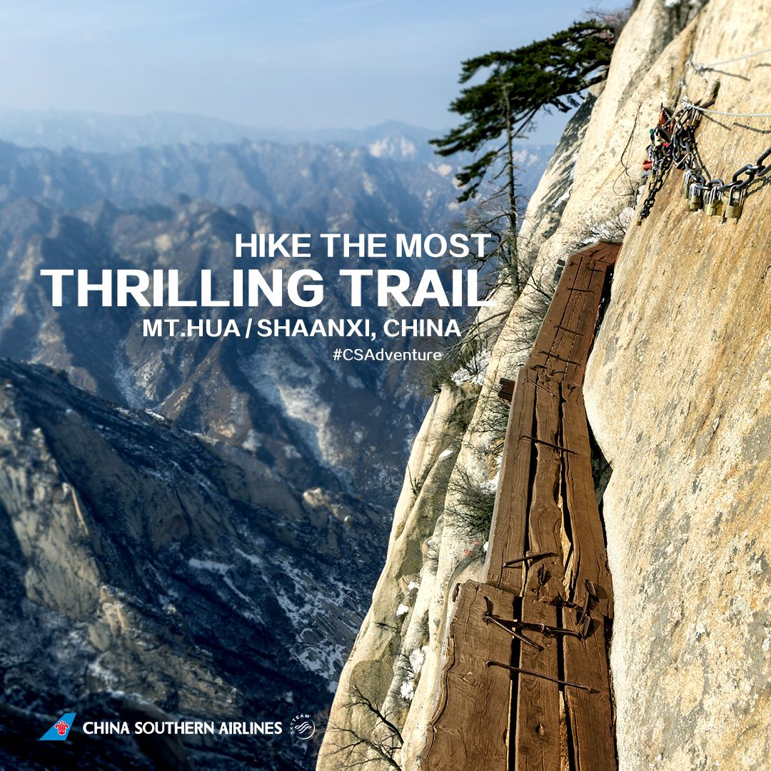 Mount Hua boasts the perfect trail if you're a thrill