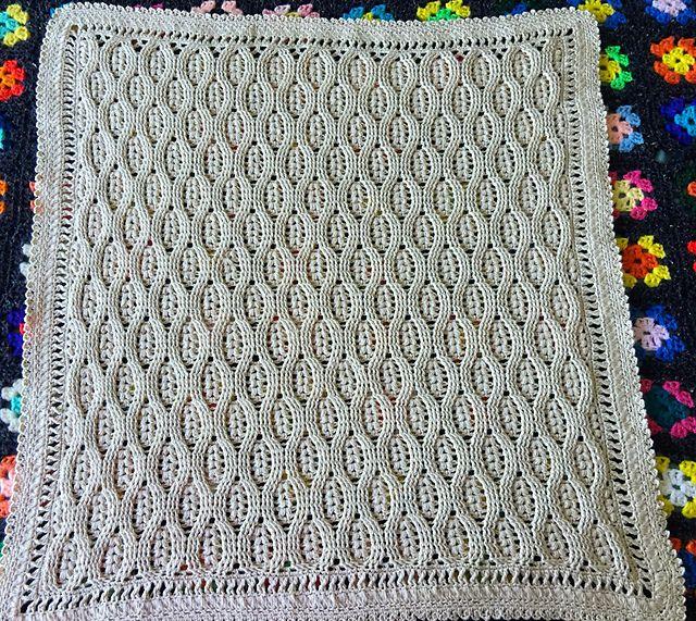 Wheat Stitch Baby Blanket pattern by DankFiber