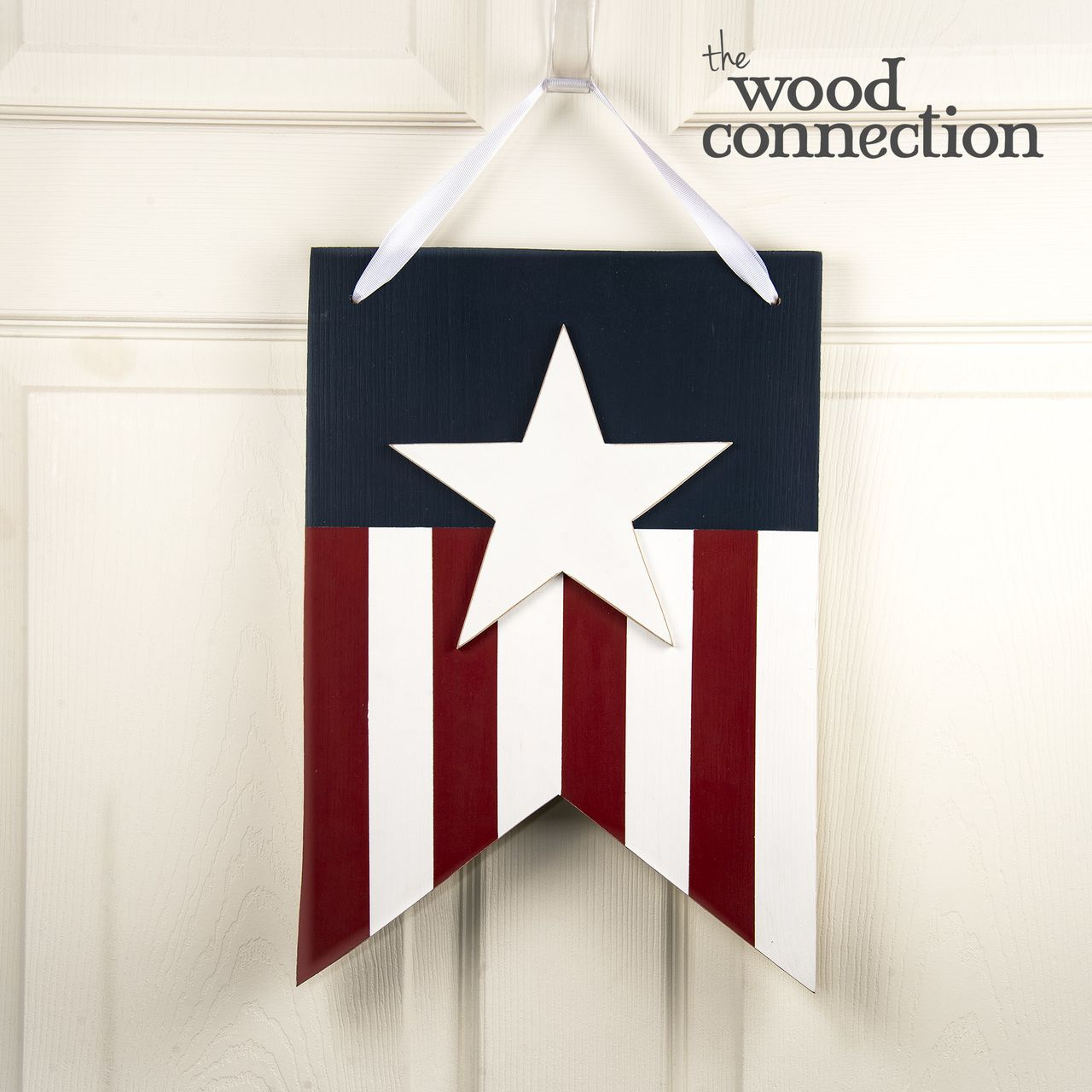 Star Banner Door Hang 4th Of July Diy Wood Projects