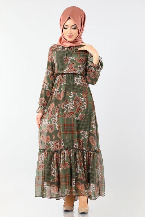 Modaselvim Yeni Urunler Tesettur Istanbul Sayfa 2 Sifon Elbise Buzgulu Elbiseler Elbise