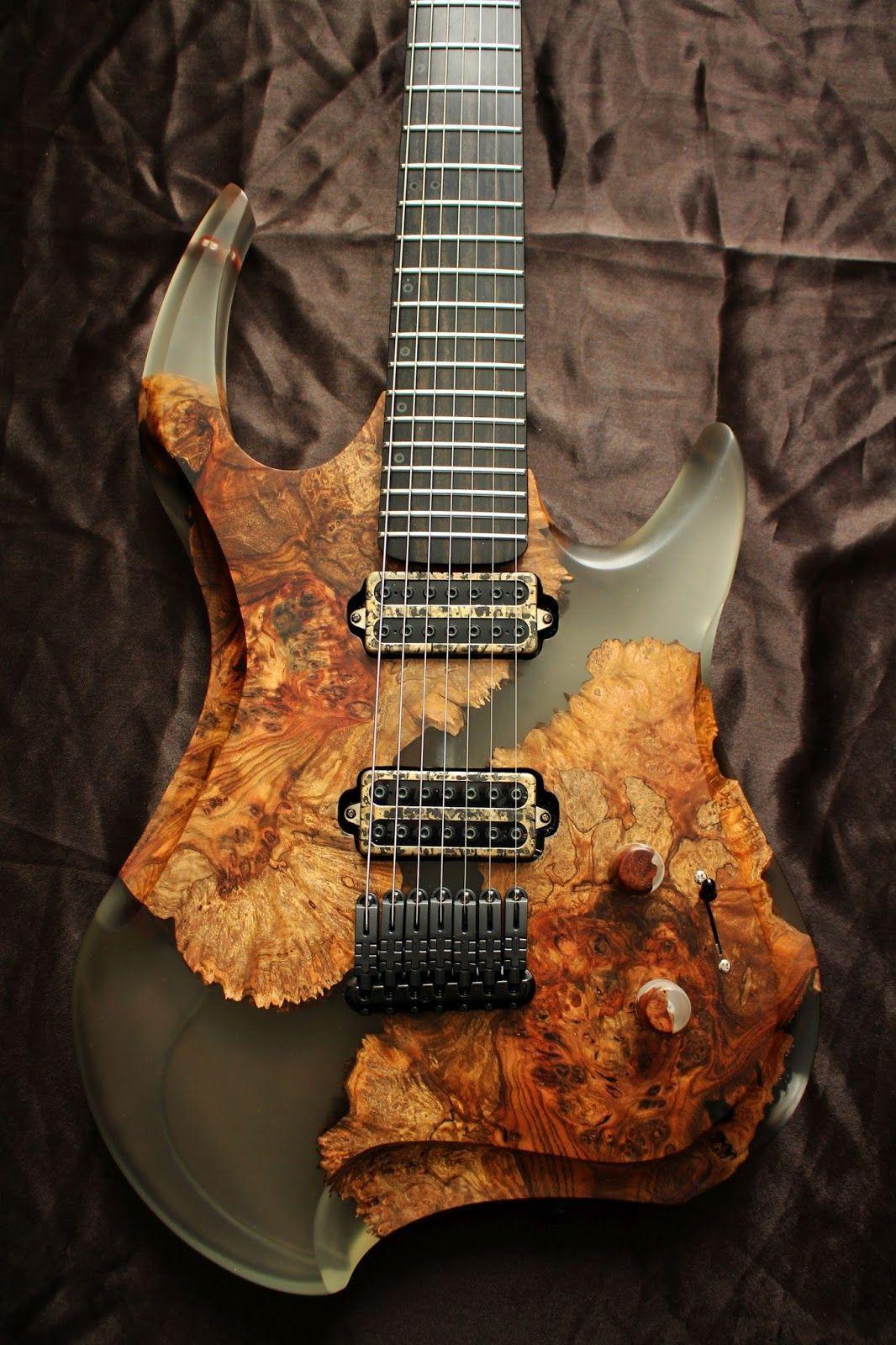 Wood And Acrylic Body Electricguitar Guitar Custom Bass Guitar