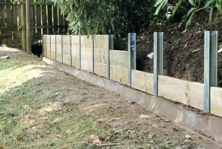 Inexpensive Retaining Wall Systems Easy To Build From The A Posts Est