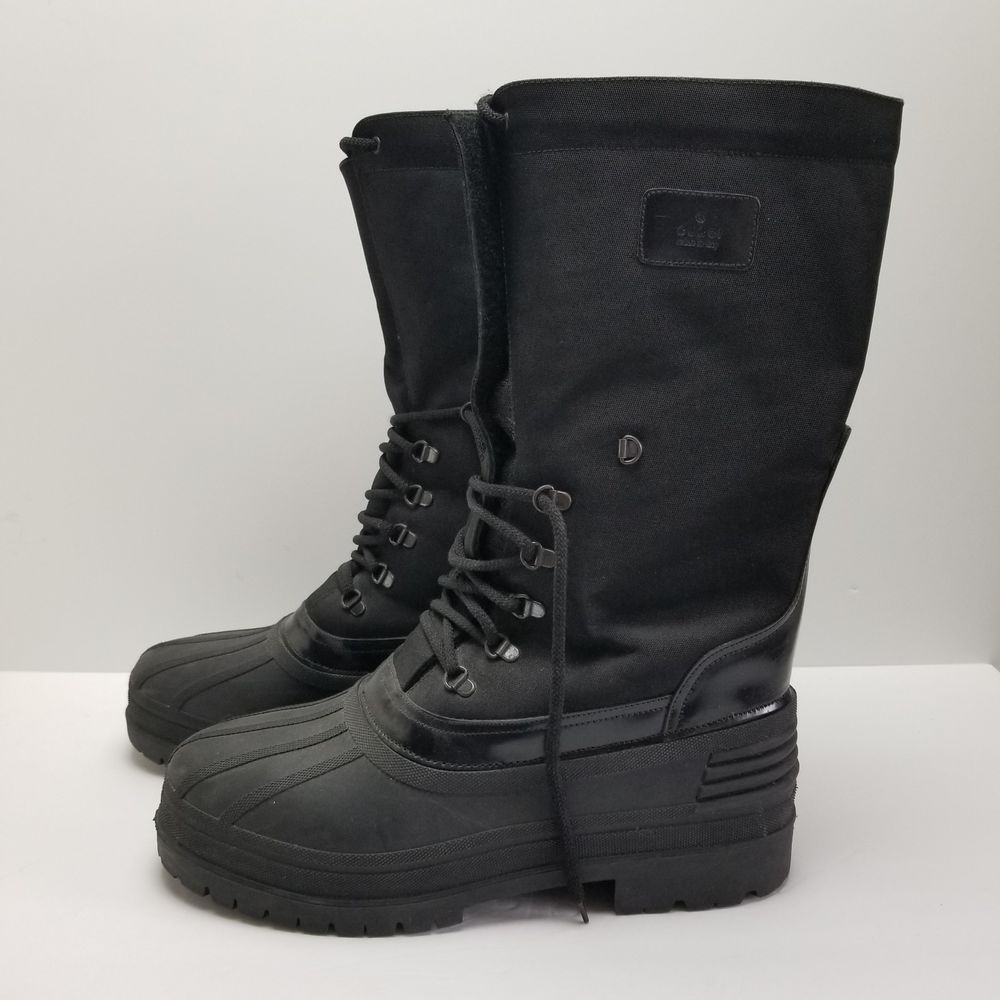 1c62ebf46c8 Details about Mens Gucci Snow Boot 11D Black 6005 Winter ...