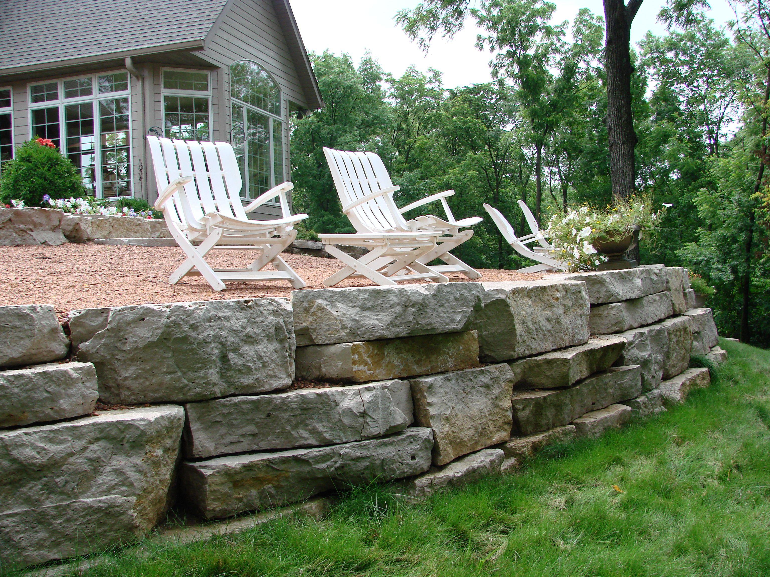 Outcropping Stone Wall Stuber Land Design Landscape Walls Backyard Paradise Backyard