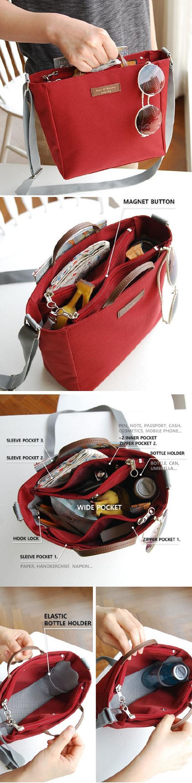Great for Thrift Shopping! US 11.39 Multifunctional Waterproof Oxford Cloth  Lightweight Outdoor Travel Handbag Corssbody Bag Storage Bag 2eb1ef9afebdf