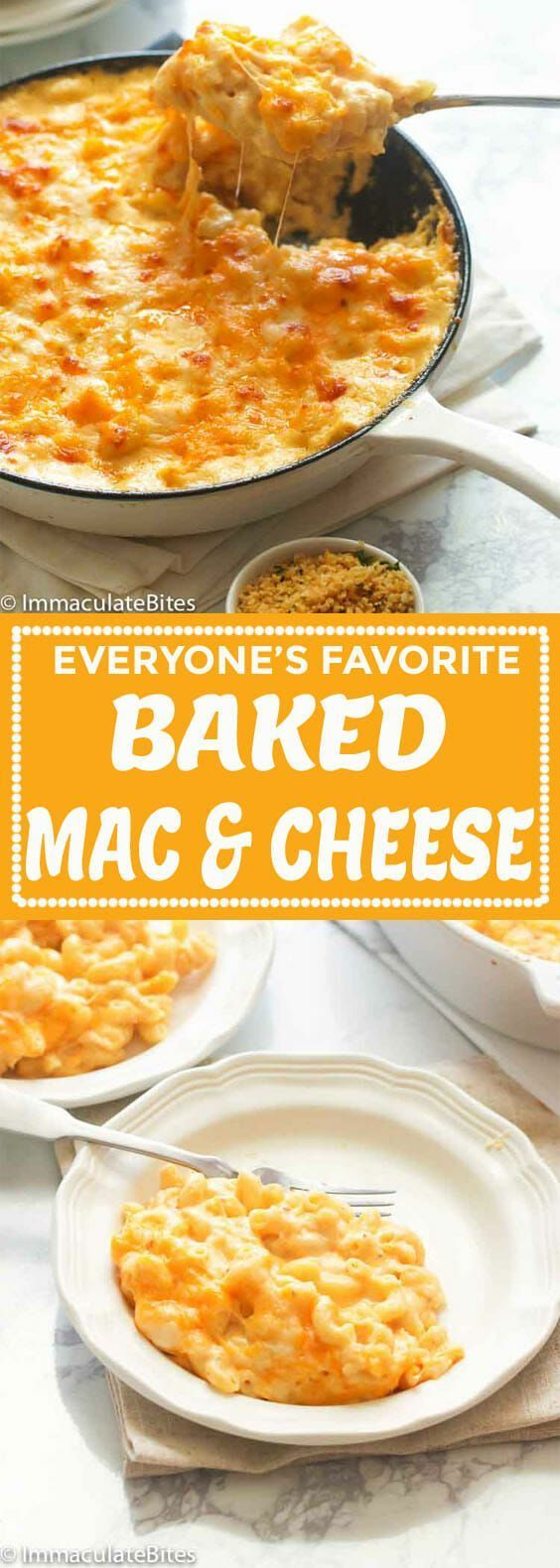 Photo of Southern Baked Mac and Cheese – Immaculate Bites