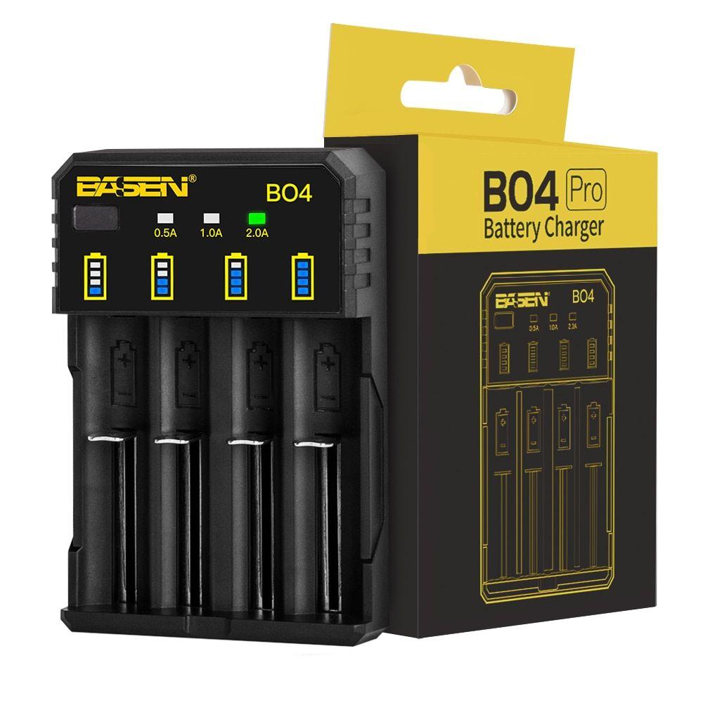 Basen 18650 Battery Charger For 1 2v 3 7v 3 2v 18650 26650 21700 18350 Aa Aaa Lithium Nimh Battery Smar Rechargeable Battery Charger Smart Charger Nimh Battery