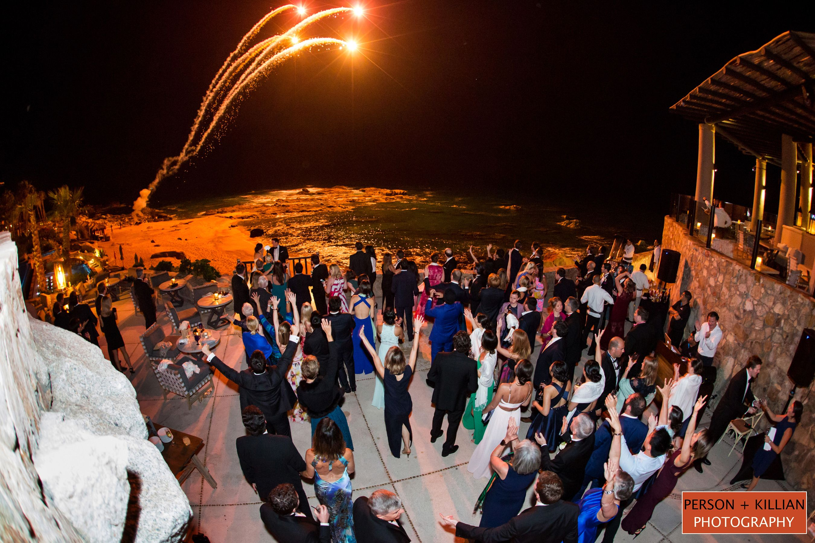 The groom surprised the bride with fireworks... a magical