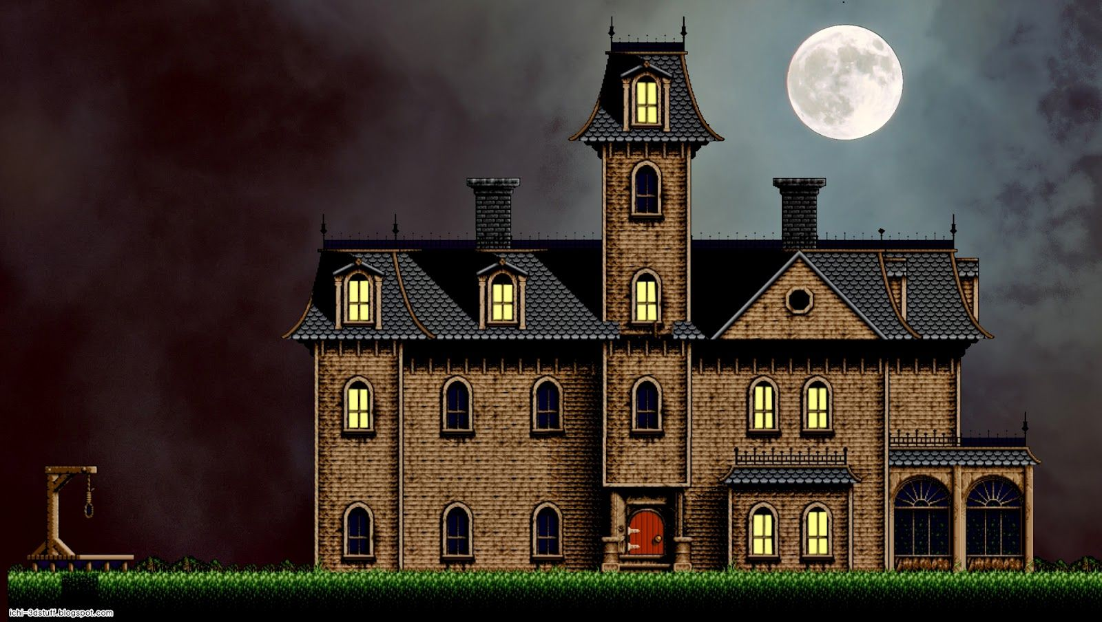 Addams Family Mansion From The Snes Game I Remember