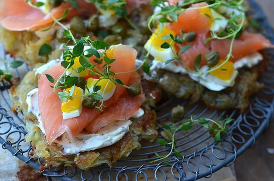 Photo of Potato pancakes with salmon