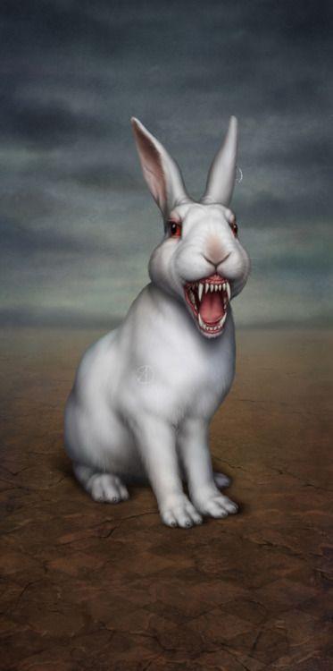 redlipstickresurrected | Rabbit art, Bunny art, Evil bunny - photo#43