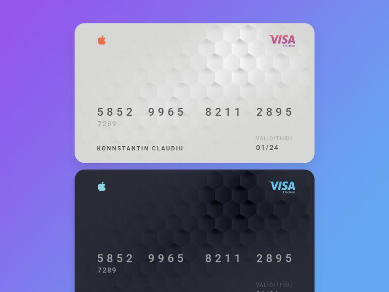 Apple Credit Card Credit Card Design Credit Card Tracker Prepaid Credit Card