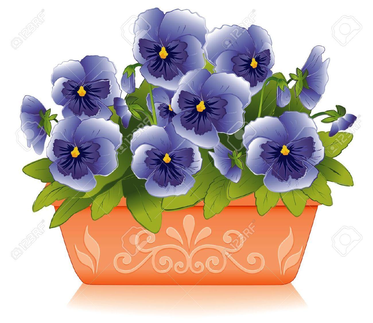 Resultado de imagen para macetas con flores animadas for Macetas rectangulares grandes